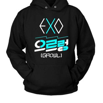 DCCK7H3 Exo Growl Logo Hoodie Two Sided