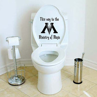 Harry Potter Ministry of Magic Toilet Loo Potty Decal Sticker