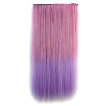 Sexy Hot Sale Hot Deal Beauty On Sale Straight Hair Color Wig Pink Gradient Pale Violet Double Color Wigs Hair Extensions [4923184708]
