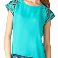 SOCORRO EMBROIDERED TOP