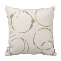 Morning Coffee Cup Stains Square Pillows