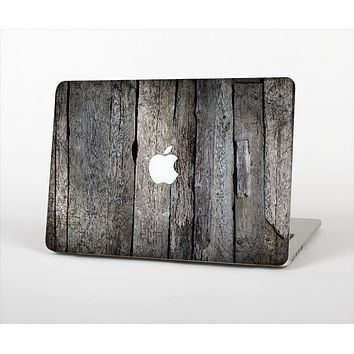 The Cracked Wooden Planks Skin Set for the Apple MacBook Air 13""
