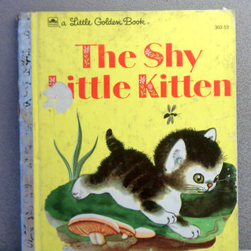 Vintage Children's Book - The Shy Little Kitten Golden Book