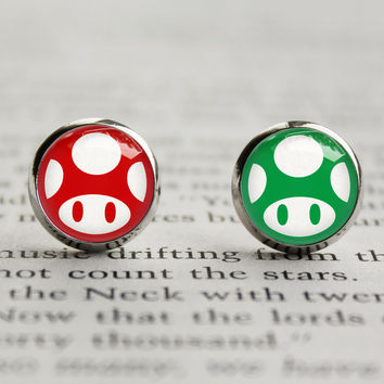 Mario Mushroom Earrings
