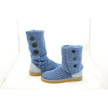 Ugg Boots Uk Knit Classic Cardy 5819 Blue For Women 81 14