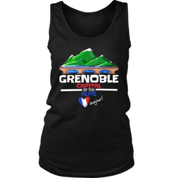 Grenoble Capital of the Alps Love France Country Women's Tank