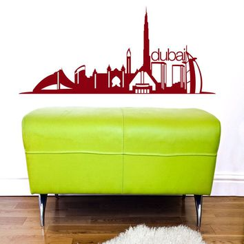 Dubai Skyline Wall Decal