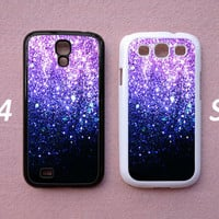 Glitter Samsung Galaxy S3 S4 case, Ombre Fade Pattern Glitter Galaxy S3 S4 Hard case, cover skin case for Galaxy S3 S4, more styles