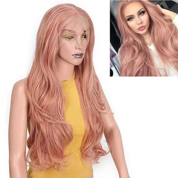 "26"" Lace Front Blonde or Pastel Pink Wig"