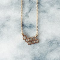 Sample Item: Gold Honeycomb Necklace