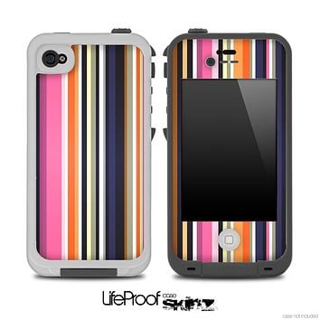 Striped V5 Fun Color Pattern Skin for the iPhone 5 or 4/4s LifeProof Case