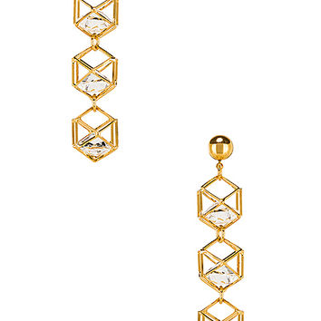 LARUICCI Caged Gem Earrings in Gold | REVOLVE