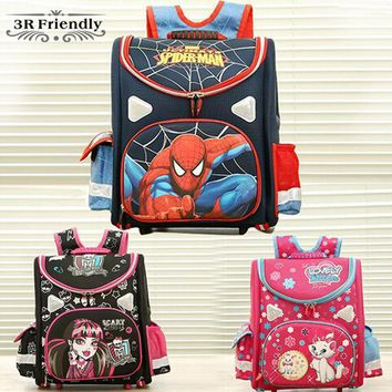 CREYHY3 hot 21model choose Kids Backpack Butterfly monster high orthopedic school bag EVA Schoolbag Children School Bags for boy andgirl