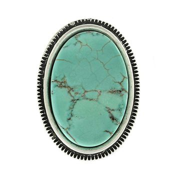 Lorna Oval Turquoise Ring