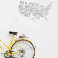 USA Map Wall Decal - Urban Outfitters