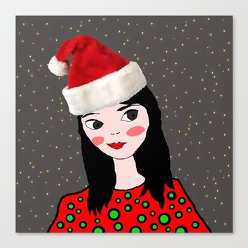 Christmas with you | Kids Painting | Only Love by Elisavet Canvas Print by Azima