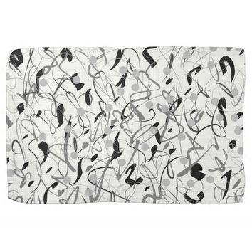 BLACK AND WHITE GRAPHIC DESIGN Tea Towel