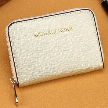 DCCKJ3V MK Women Leather Zipper Wallet Purse-15