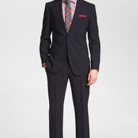 Men's BOSS 'Jam/Sharp' Trim Fit Navy Stretch Wool Suit