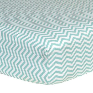 Trend Lab ChevronFlannel Crib Sheet (Green)