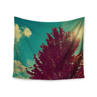 "Robin Dickinson ""Change is Beautiful"" Teal Red Wall Tapestry"