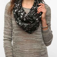 Ecote Mirror-Print Eternity Scarf- Black One