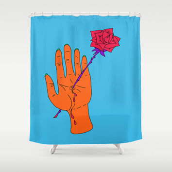 Wounded Hand // Creep Shower Curtain by Ducky B