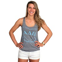 My Heart Belongs to Alpha Delta Pi Tank Top in Grey by Judith March - FINAL SALE