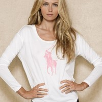 Long-Sleeved Pink Pony Tee