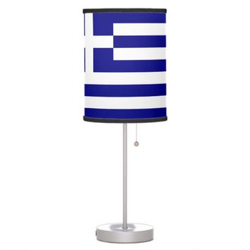 Patriotic table lamp with Flag of Greece