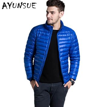 2017 casual Winter Jacket Mens outwear Coat Lightweight parka stand collar mens winter jackets and coats Plus Size S-3XL YYJ0031