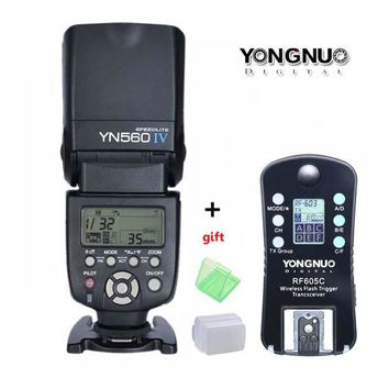 YONGNUO YN560 IV,YN-560 IV Master Radio Flash Speedlite + RF-605 Wireless Trigger for Canon Nikon D800 D750 1000D 650D 60D DSLR