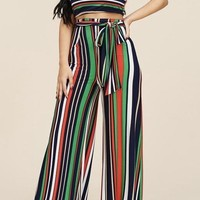 In Living Color Stripe Palazzo Pant Set