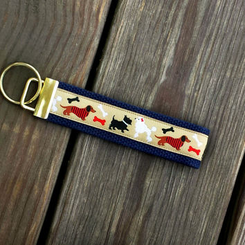 Dachshund Keychain, Key Fob, Poodle, Scottish Terrier, Dog Bones Keychain, Key Fob, Dog, Dog Accessories, Key Accessories