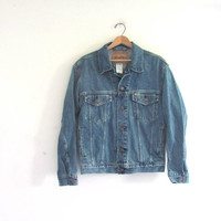 Vintage LEVIS denim jean jacket / size men's S
