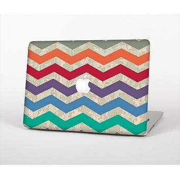 The Retro Chevron Pattern with Digital Camo Skin Set for the Apple MacBook Air 13""
