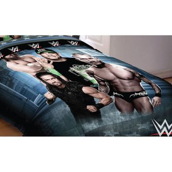 WWE Bed Comforter Industrial Strength Wrestling Bedding