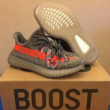 Adidas Yeezy 350 Boost V2 Gray Orange Sneake 36--46