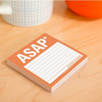 ASAP Sticky Notepad
