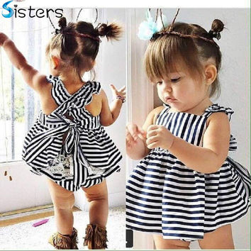 2017 Summer Baby Wedding Dresses Princess Children Dresses Strip f9299e69a
