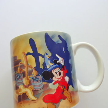 Vintage Walt Disney Mickey Mouse Coffee Mug 1990