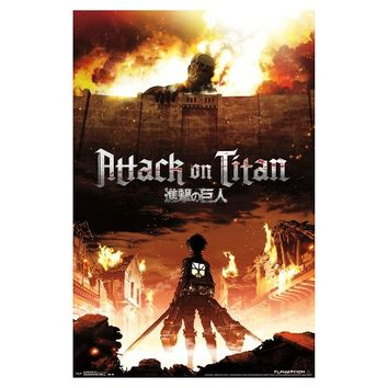 Attack on Titan Fire Poster 34x22 - Trends International