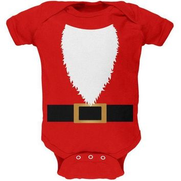 PEAPGQ9 Halloween Santa Claus Costume Soft Baby One Piece