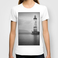 Lindau Lighthouse - Lake Constance T-shirt by Jay W