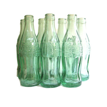 Coca Cola Green Glass Bottles Set From California, Hawaii, Oregon, Montana