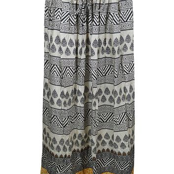Mogul Womans Long Skirt Printed Black Bohemian Broomstick Maxi Skirts: Amazon.ca: Clothing & Accessories