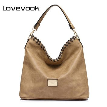LOVEVOOK large capacity women shoulder crossbody bag female handbag famous brands high quality messenger bags ladies totes