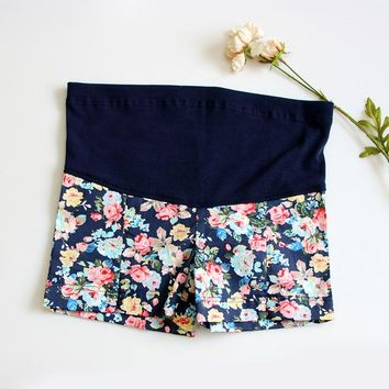 Summer, Flower Maternity  Shorts Cute!! Sizes S, M, L, XL, XXL, XXXL