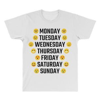 Moods Of The Week Daily Emoji All Over Men's T-shirt