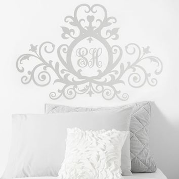 Personalized Scroll Decal Headboard